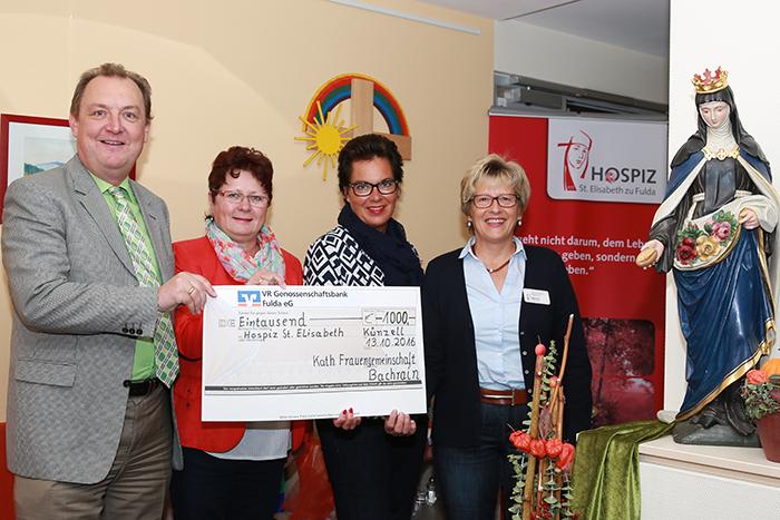 Das Foto zeigt von links: Ansgar Erb, Martin Herzig, Anita Mey, Dagmar Pfeffermann