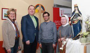 von links: Dagmar Pfeffermann, Ansgar Erb, Markus Swoboda und Seelsorgerin St. Lioba Kaib