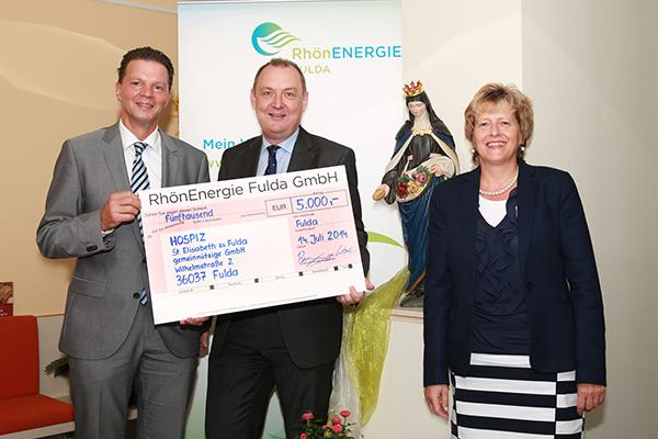 RhönEnergie Fulda spendet 5.000 Euro an Hospiz