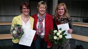 v.l. Marion Döppler, Hospizleitung Dagmar Pfeffermann und Elke Hau-Hofmann.