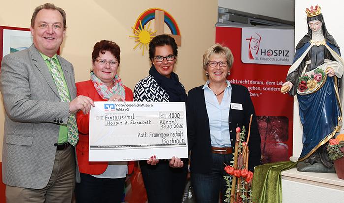 Kath. Frauengemeinschaft Bachrain spendet an Hospiz St. Elisabeth