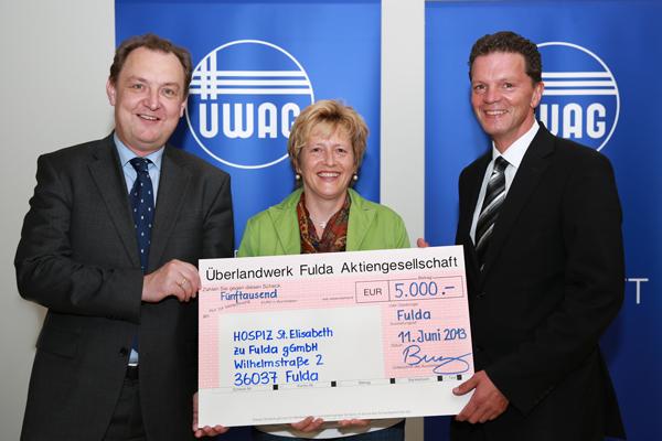 ÜWAG-Spende für das Fuldaer St. Elisabeth Hospiz