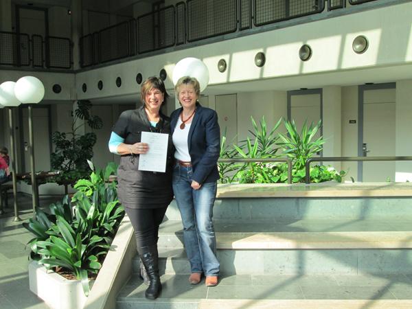 Erfolgreicher Abschluss für Sandra Wess
