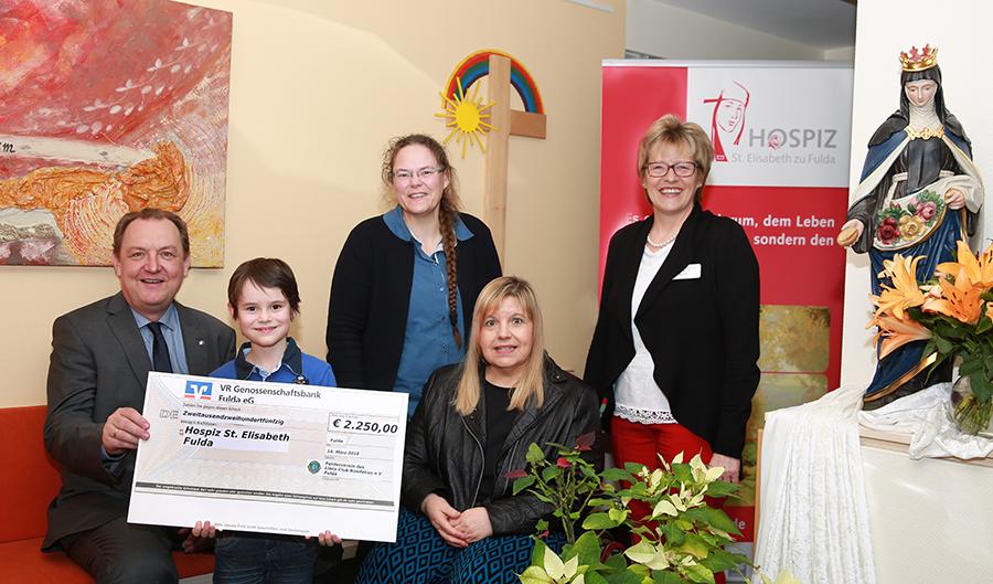 Lions Club Fulda – Bonifatius  spendet  2250.- € an das Hospiz St. Elisabeth
