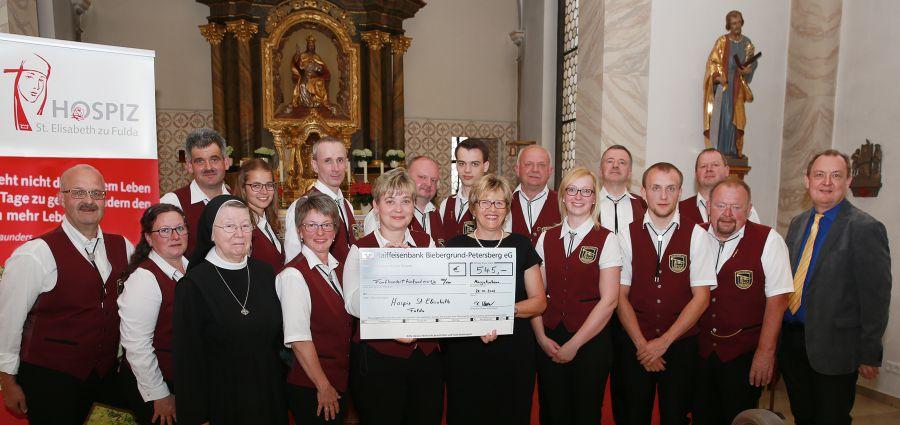 Musikverein Margretenhaun spendet  an Hospiz